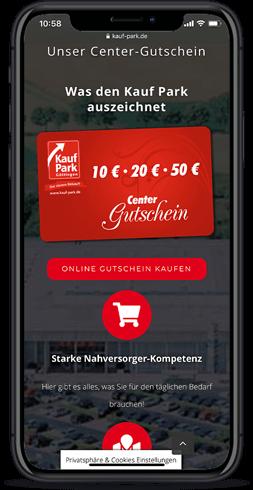 Die Webdesigner von Joofy haben die Webseite des Kauf Park in Göttingen