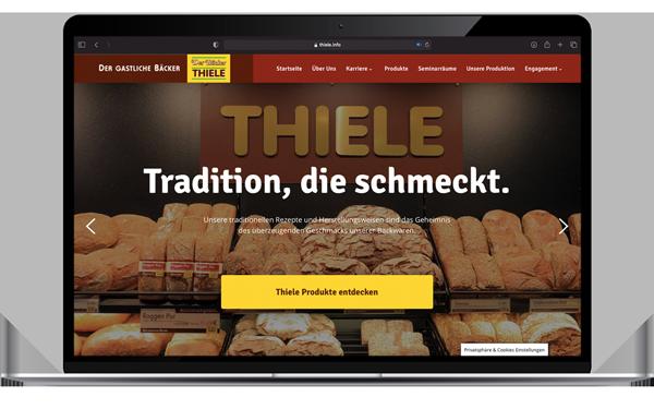 Die Website der Bäckerei Thiele wurde von den Webdesignern von Joofy erstellt